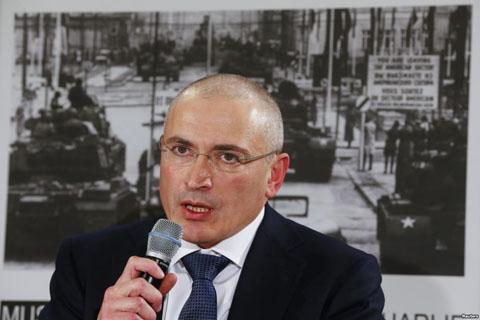 Михаил Ходорковский на пресс-конференции. Берлин. Германия. 22 декабря 2013 года